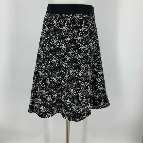 Christopher & Banks Embroider Floral Skirt